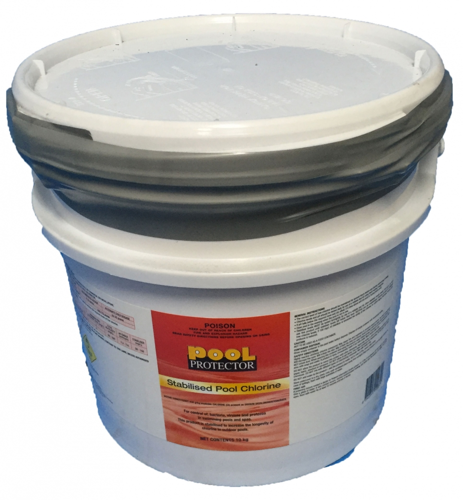 Stabilised Chlorine 10kg Container Pool Protector