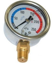 Pressure Gauge Oil Filled Lower Mount