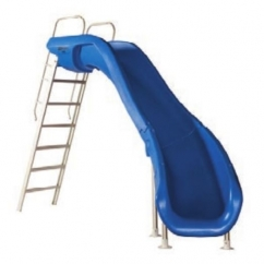 Rogue2 Pool Slide. Blue, Right curve.